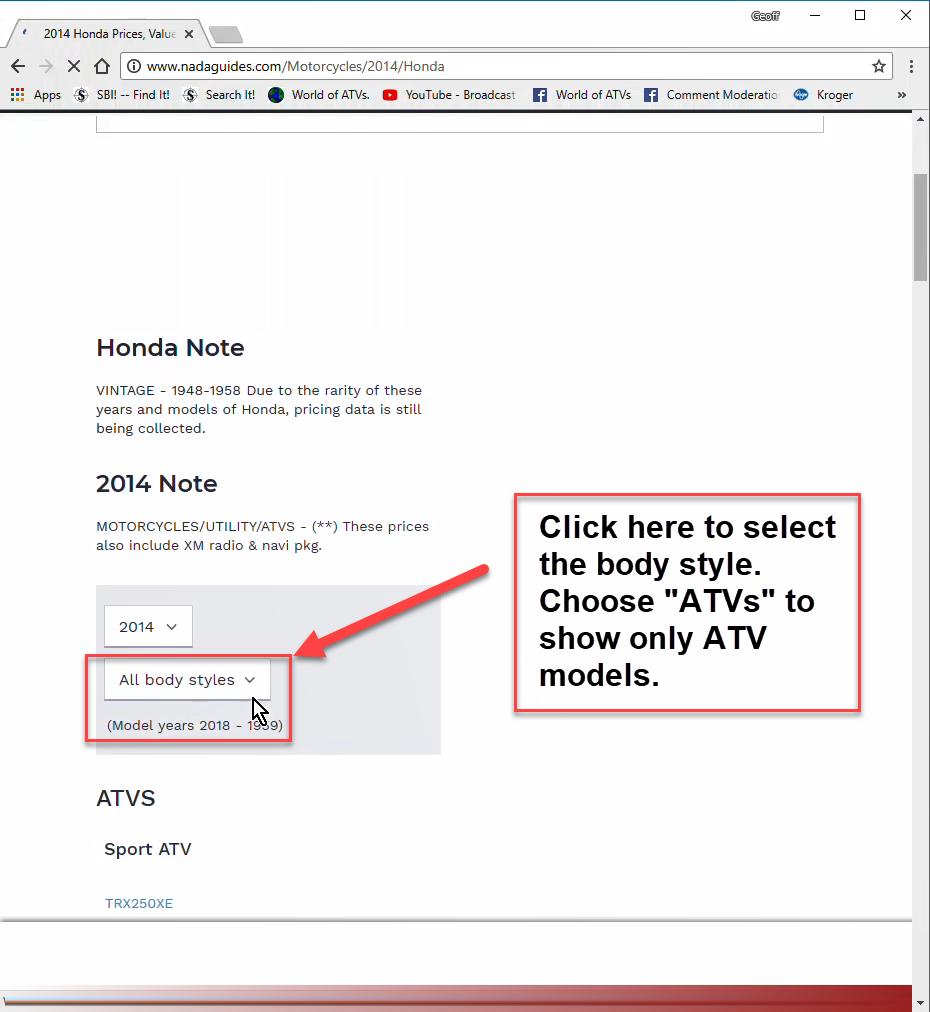 Nada Atv Values >> Nada Atv Prices Step By Step Instructions