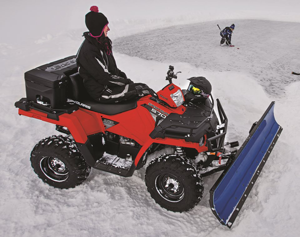 polaris atv plow