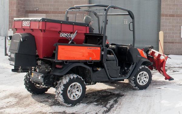 utv/atv snow plow salt spreader