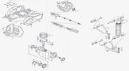 honda  wheeler parts great deals  thousands  atv parts