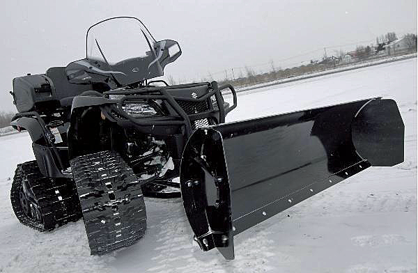atv snow plow sidewings.