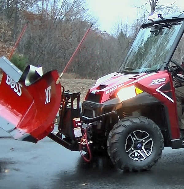 ATV/UTV snow plow v-scoop