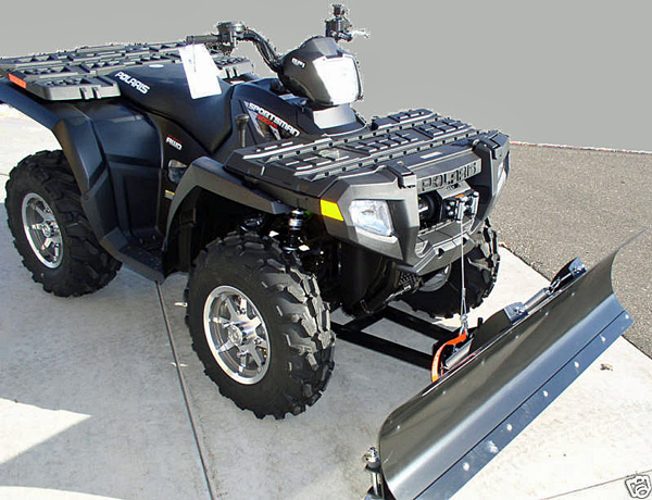 atv snow plow winch lift