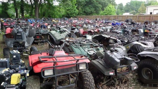 UTV and ATV salvage yard